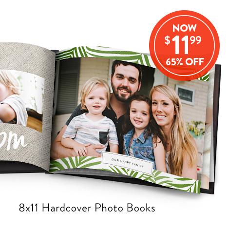 8x11 Hardcover Photo Books for $11.99 EA., Reg. $34.99 EA.