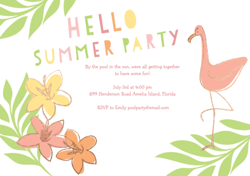 Snapfish – Summer Party Invite