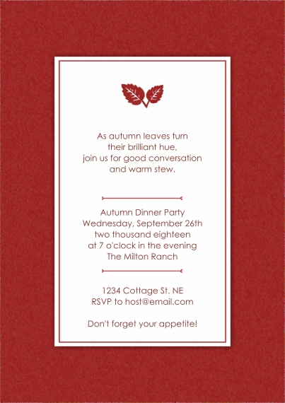 Snapfish elegant fall leaves dinner party invitation elegant fall leaves dinner party invitation stopboris Choice Image
