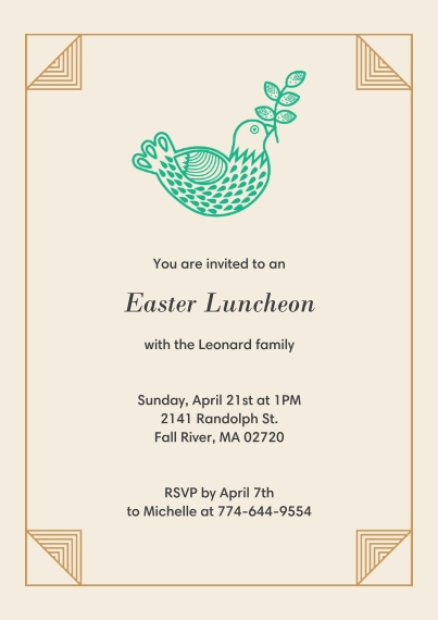 Invitations and announcements invitation cards announcement easter luncheon easter luncheon stopboris Gallery