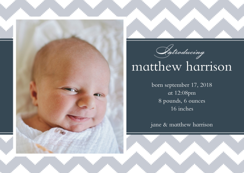 Snapfish – Boy Birth Announcement