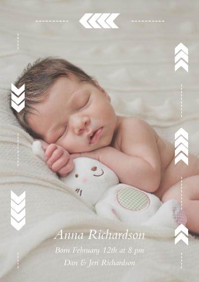Baby Announcement Cards Birth Announcement Cards – Photo Birth Announcement