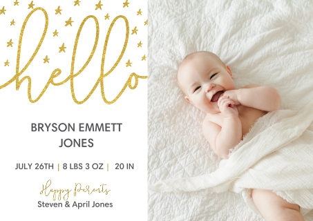 Baby Announcement Cards Birth Announcement Cards – Inexpensive Birth Announcements