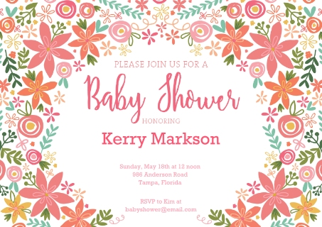Baby Shower Inviations Custom Photo Baby Invitations – Baby Shower Invitation