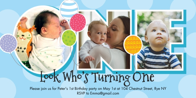 Milestone birthday cards invitations cvs photo birthday blue photoholes filmwisefo Images