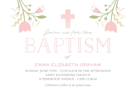 Christening baptism announcements baptism cards christening floral baptism floral baptism stopboris Image collections
