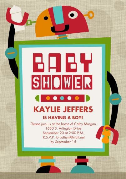Baby shower invitations cards photo invitations cvs photo baby shower robot baby shower robot stopboris Images
