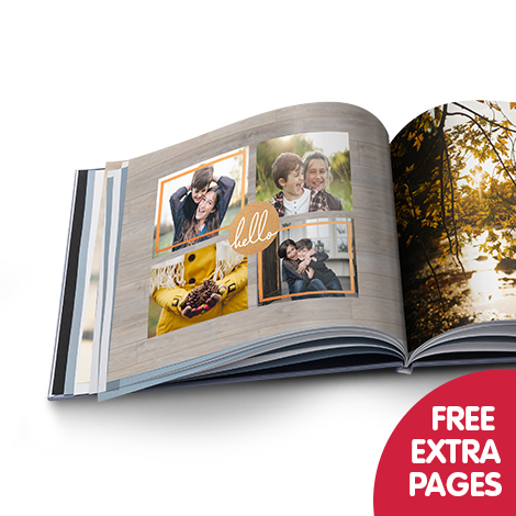 Free extra pages when you buy any photo book