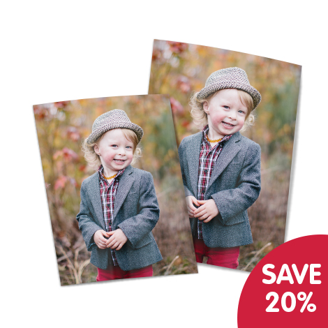 "Save 20% on 10x8"" and 7x5"" prints!"