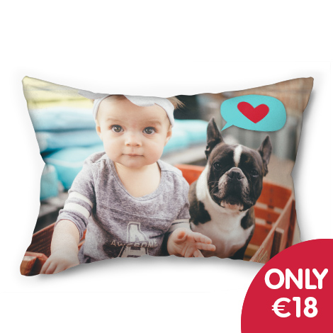"Only €18 on 20x14"" photo cushion"