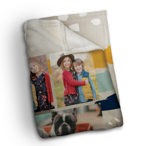 127x152cm (60x50'') Plush Photo Blanket