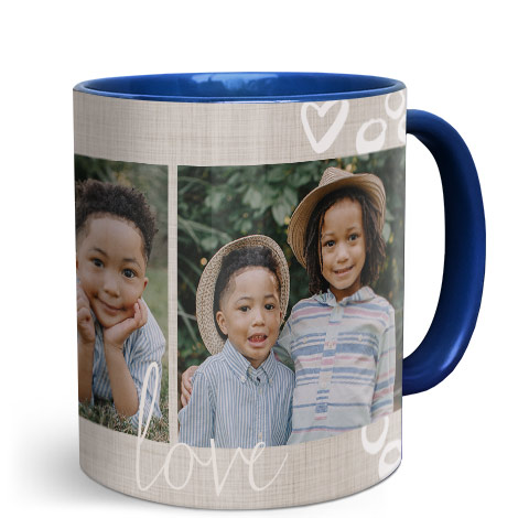 330ml (11oz) Single & Collage Mug - Blue