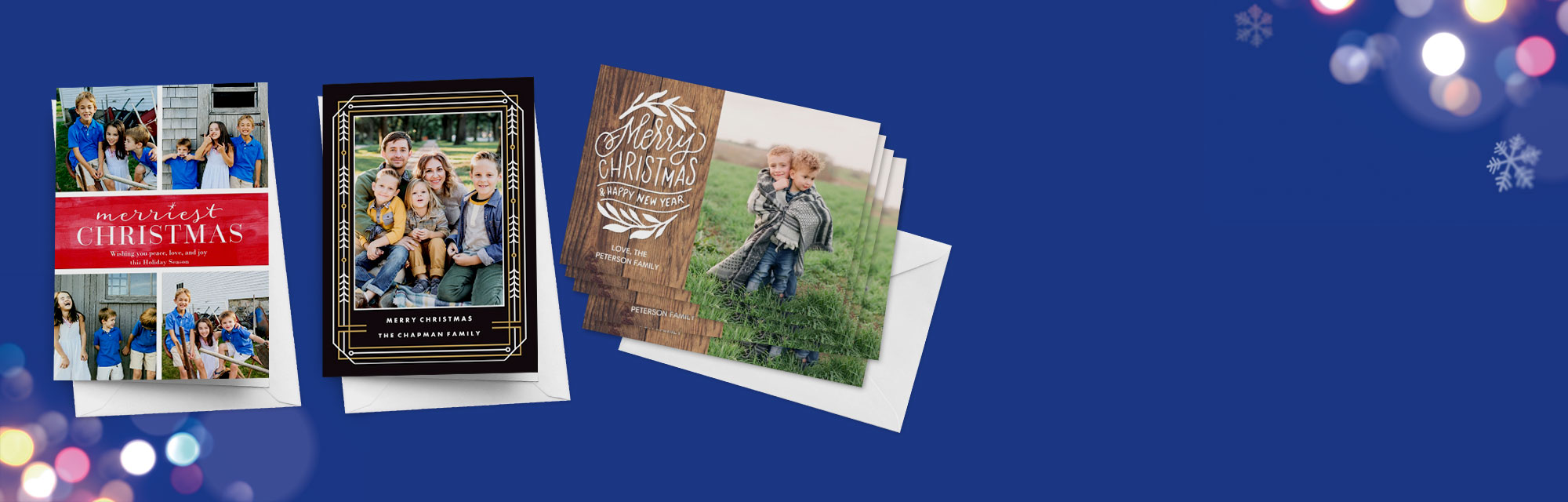 Personalised Photo Cards Share your favourite snaps with loved one's and send them a personalised photo card. We have cards for all occasions and events including birthdays, weddings and new baby's.