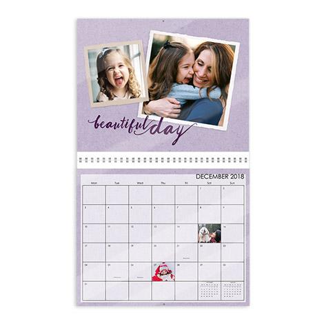 "29x35cm (11.5x14"") Glossy Wall Calendar"