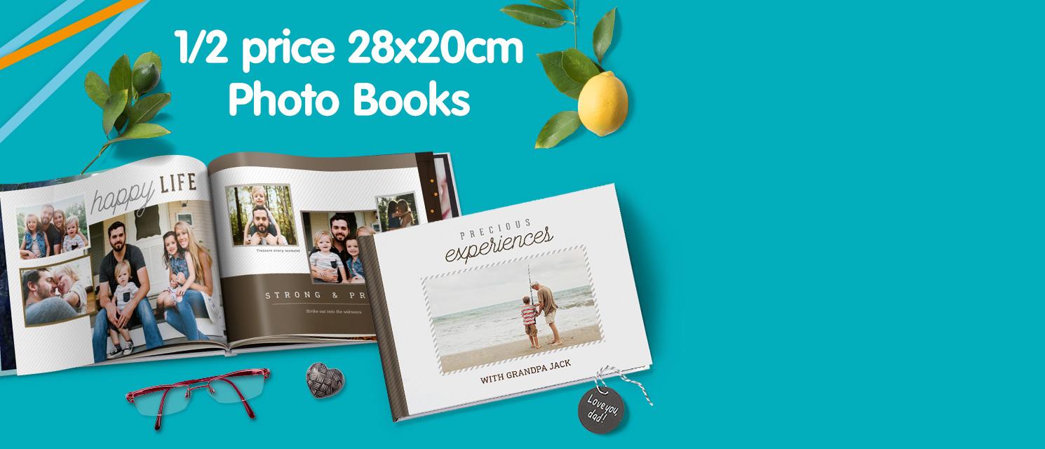 1/2 price 28x20cm Photo Books