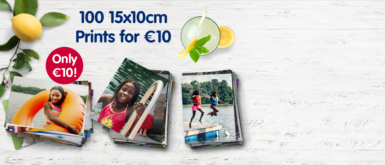 100 15x10cm Prints for €10