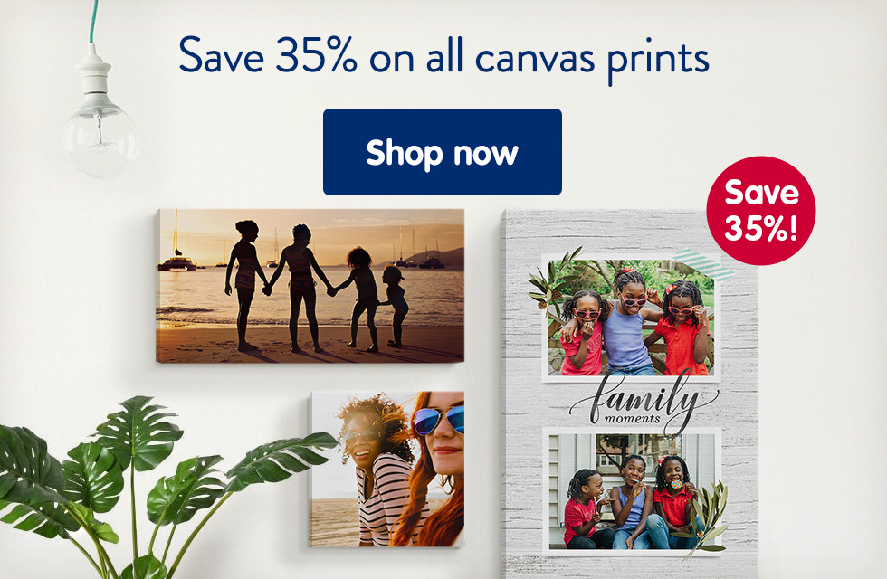 Save 35% on all canvas prints