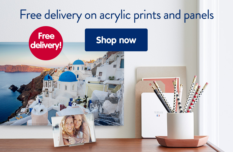 Free delivery on acrylic prints and panels
