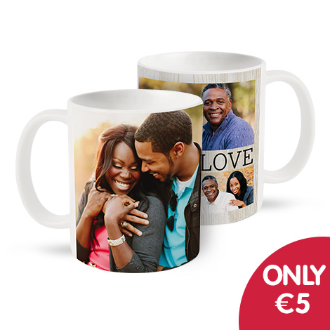 Only €5 on single and collage mugs