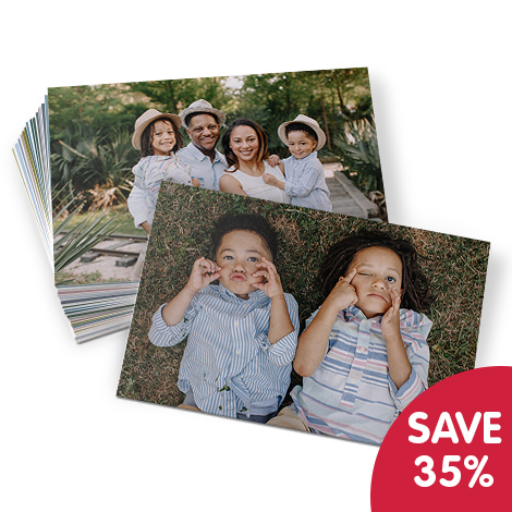 Save 35% on 18x13cm photo prints