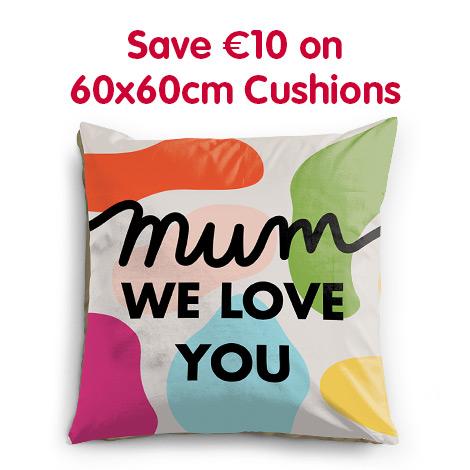 Save €10 on 60x60cm Cushions