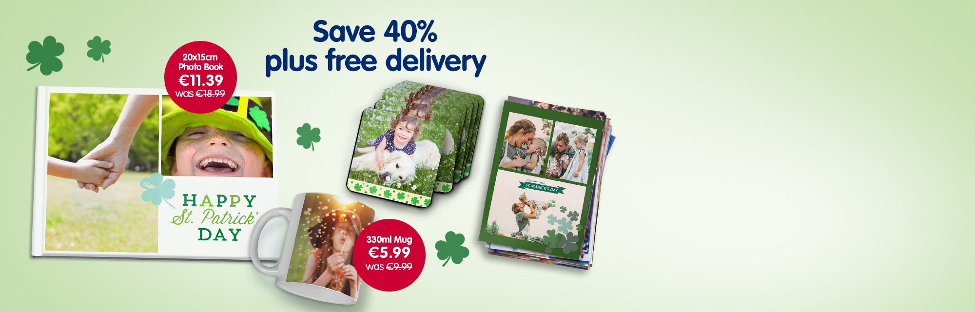 Save 40% plus free delivery