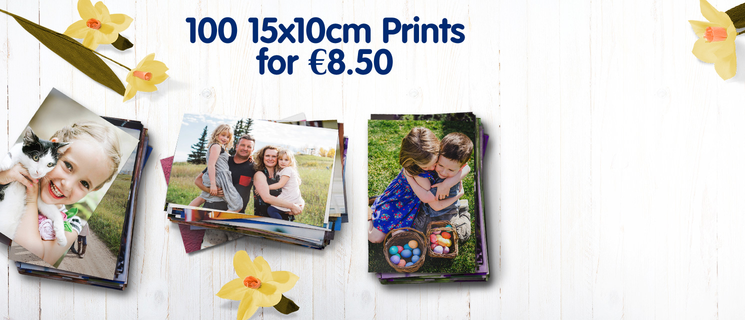 100 15x10cm Prints for €8.50