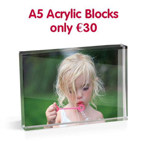 A5 Acrylic Blocks only €30