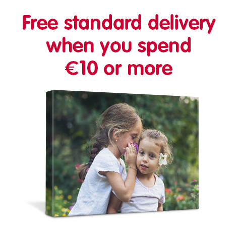 Free standard delivery when you spend €10 or more