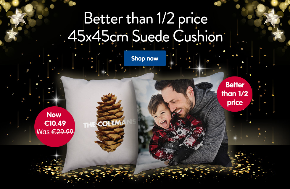 Better than 1/2 price 45x45cm Suede Photo Cushion