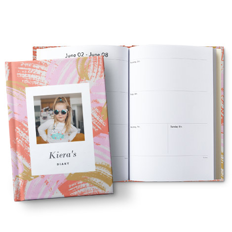 "A5 (6x8"") Hardcover Personalised Diary"
