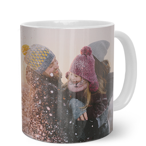 330ml (11oz) White Personalised Photo Mug