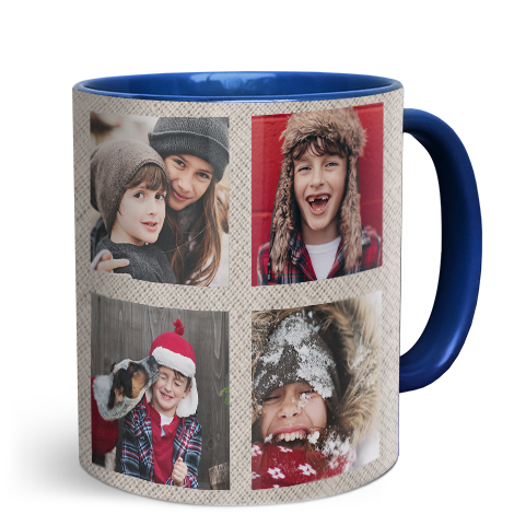 330ml (11oz) Blue Personalised Photo Mug