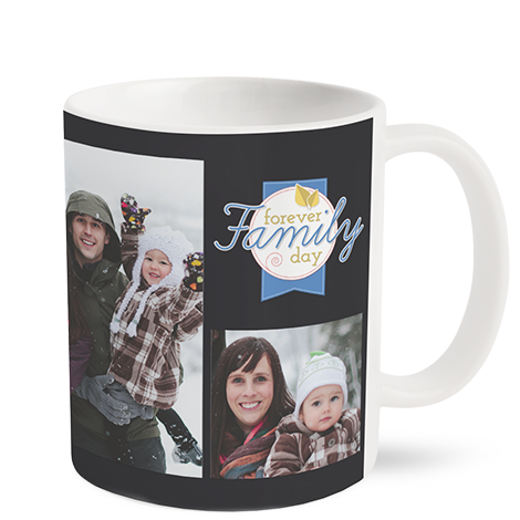 330ml (11oz) Matt Finish Personalised Photo Mug