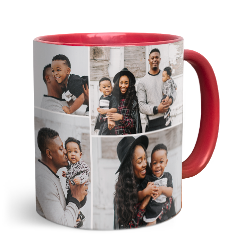 330ml (11oz) Red Personalised Photo Mug