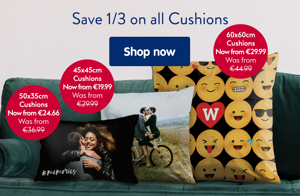 Save 1/3 on all cushions
