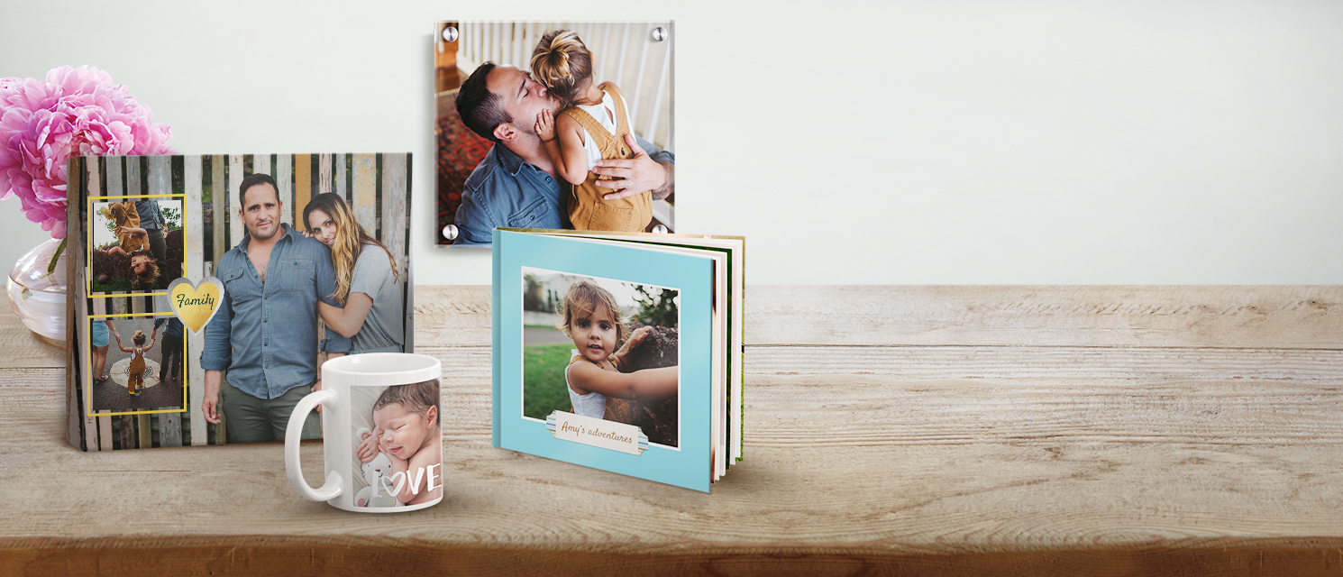 Create your perfect Photo Gift! : Enjoy those precious moments everyday with personalised photo gifts.
