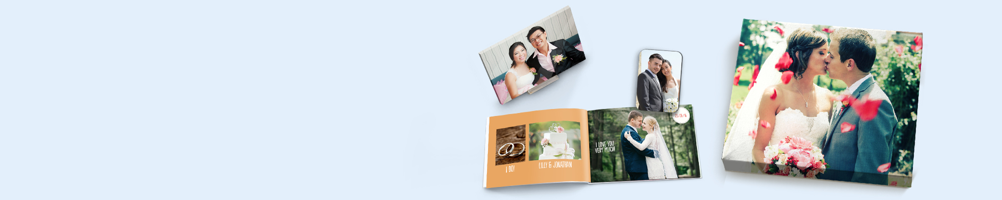 Weddings Make every memory count and create personalised wedding gifts and keep sakes with our stunning photo books, canvas prints, gifts and more