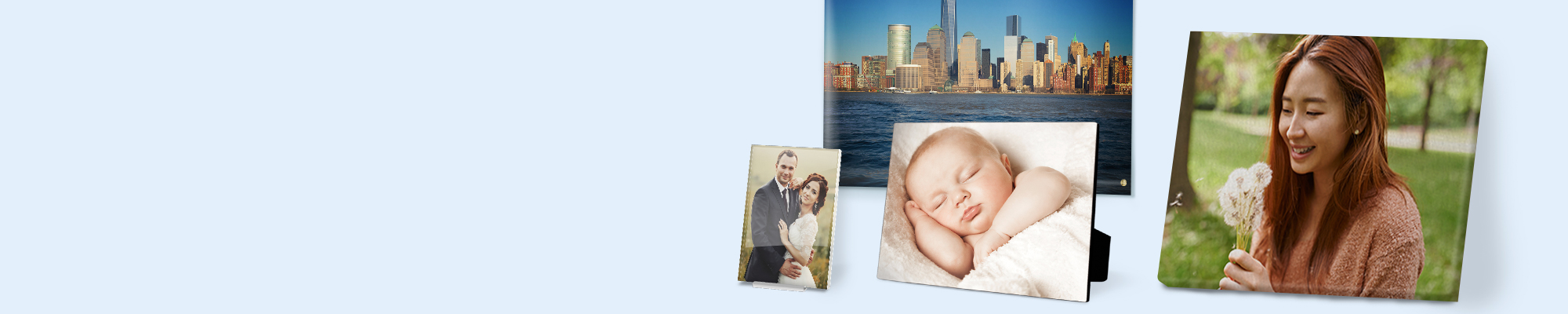 Wall Art & Canvas Turn your photographs into something truly special to display in your home. Choose from a great range of Wall Art products including Canvas, Acrylics, Posters and Panels.