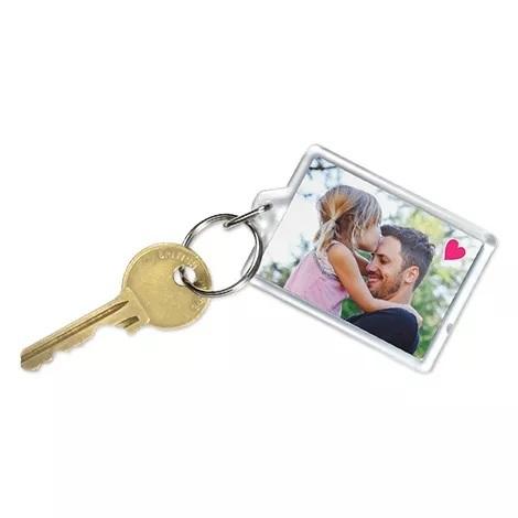 Porte-clé photo en plexiglas