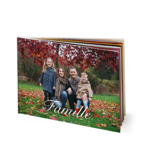 Livre photo portrait avec couverture rigide 30x20 cm