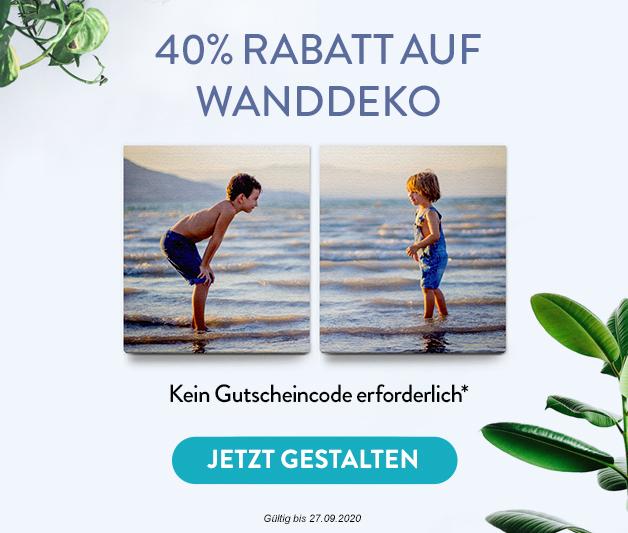 40% Rabatt auf Wanddeko