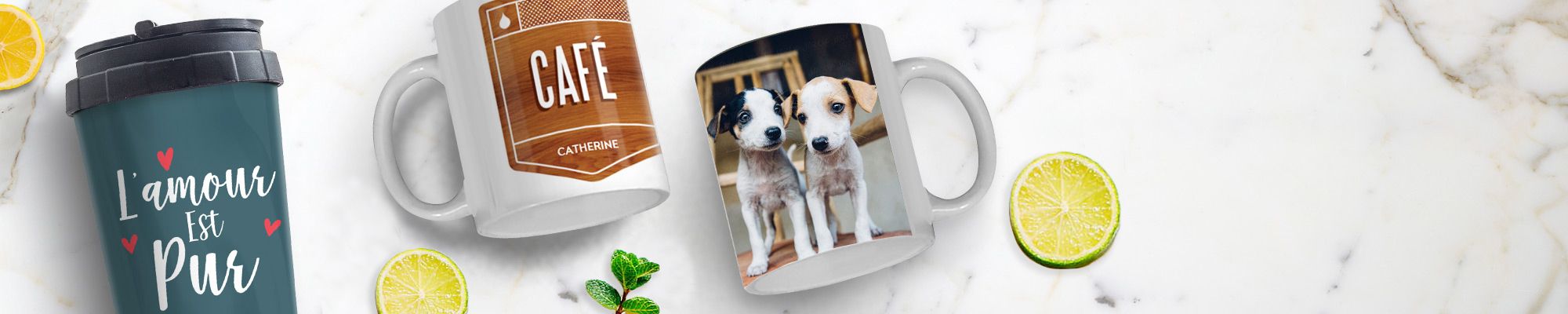 Impression de photos sur des tasses et mugs design