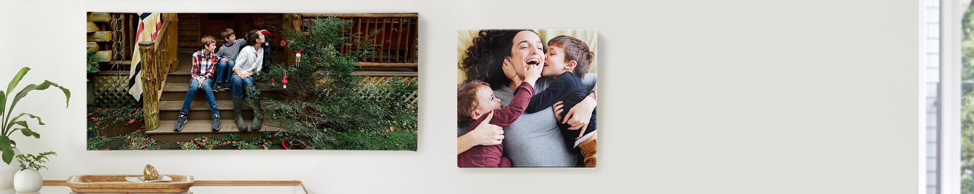 Décoration murale Ajoutez facilement une touche de couleur sur les murs de votre maison avec notre sélection personnalisée de déco murale et de photos sur toile.
