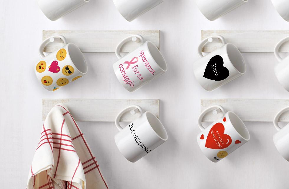 5 differenti tazze personalizzate