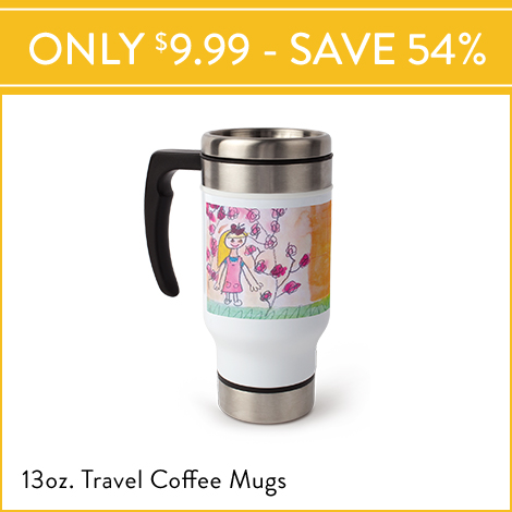 Flash Sale! 13 oz. Commuter Mugs for $9.99 EA., Reg. $21.99 EA.