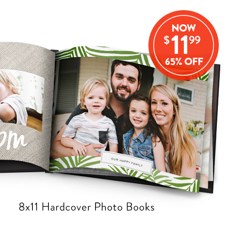 8x11 Hardcover Photo Books for $11.99 EA., Reg. $34.99 EA.