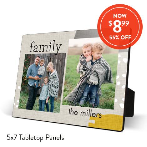 5x7 Wood Tabletop Panels for $8.99 EA., Reg. $19.99 EA.