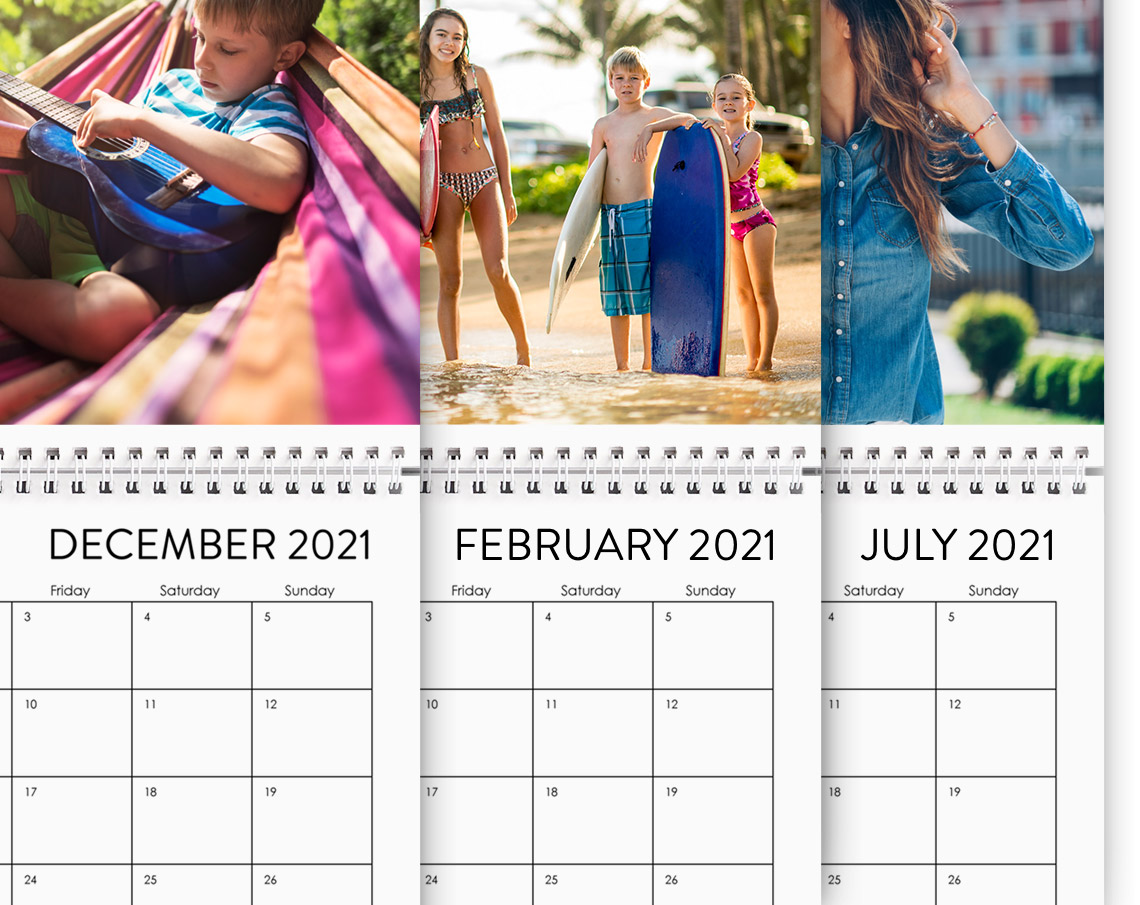 Start from any month - Choose which month to start your calendar on