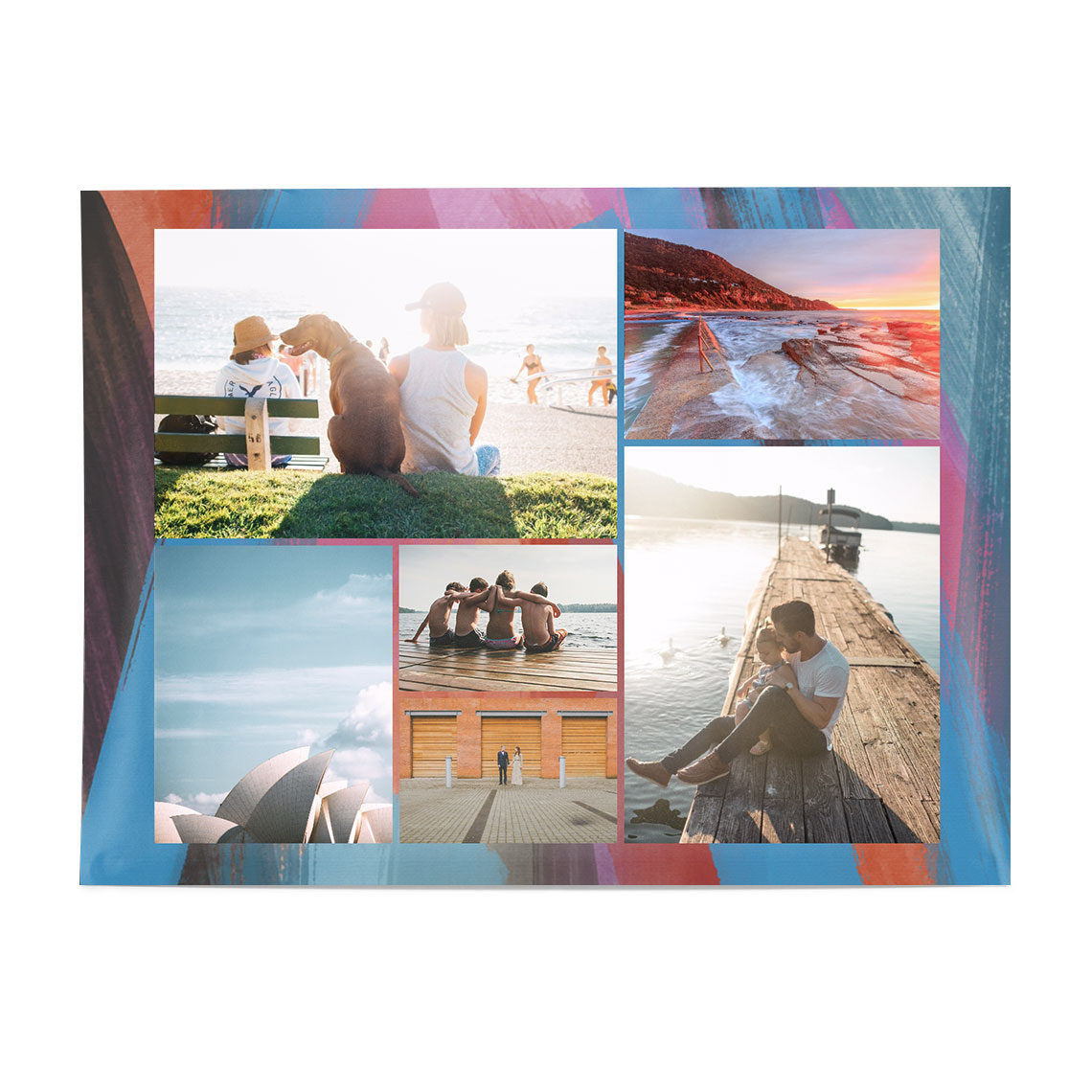30x40cm 12x16 collage poster glossy collage poster canvas